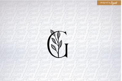 G monogram, g font, g initial