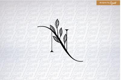 N font, n initial, n monogram, n letter