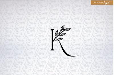 k font, k letter, k initial,  custom k logo, k monogram