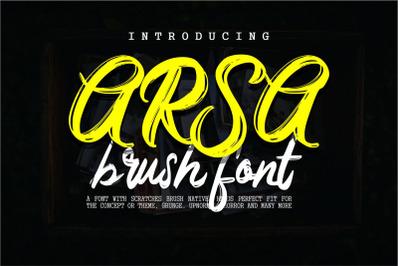 Arsa - Brush Font