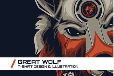 Great Wolf T-Shirt Illustration