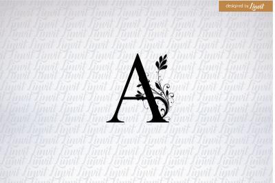 A initial, a font, a letter, a wedding logo, wedding logo a,