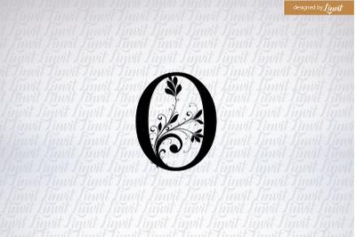 O initial, O wedding logo, o monogram
