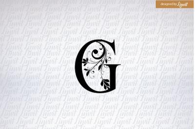 g logo, g wedding monogram, g initial