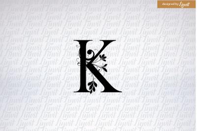 K logo, k initial, k monogram, k wedding logo