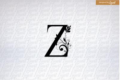 Z logo, z initial, z wedding logo, z monogram