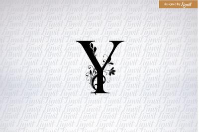 Y font, y initial, y logo, y monogram