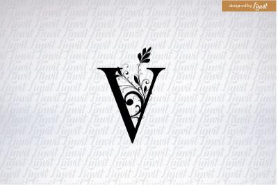 V logo, v initial, letter v, v monogram, v wedding logo