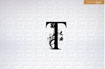 T logo, t initial, monogram t, t wedding monogram,  letter t