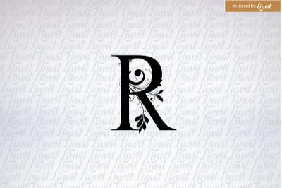 r logo, r initial, monogram r, r wedding monogram,r w letter r