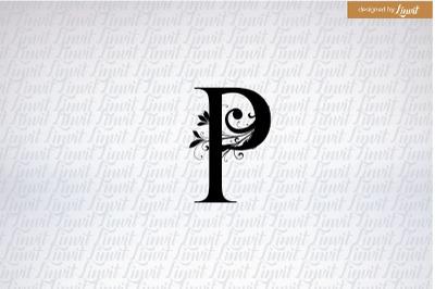 P logo, p letter, p font, p monogram, p initial