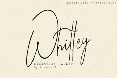 Whitley Signature Typeface
