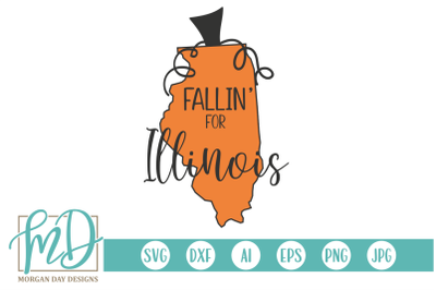 Fallin' For Illinois SVG
