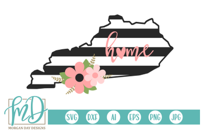 Floral Kentucky SVG
