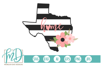 Floral Texas SVG