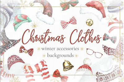 Christmas Clothes.Winter Clipart