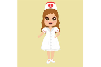 girl profession nurse clipart