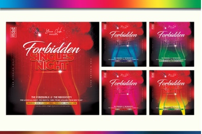 Forbidden Singles Night Photoshop Template