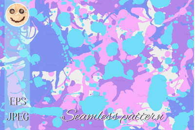 ink splashes camo seamless pattern