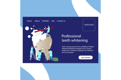 Teeth whitening and stomatology clinic website page
