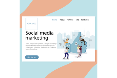 SMM service landing page