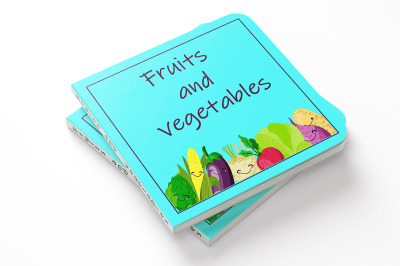 Fruits and vegetables. Children learning.Memory game for children of p