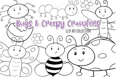 Bugs & Creepy Crawlers Digital Stamps