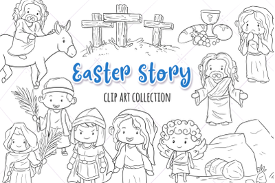 Easter Story Digital Stamps
