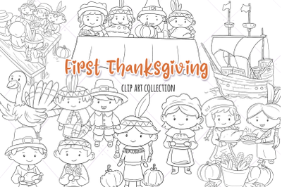 First Thanksgiving Digital Stamps