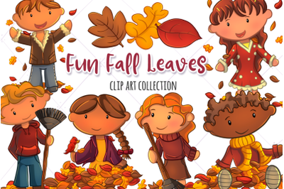 Fun Fall Leaves Clip Art Collection
