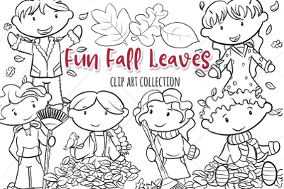 Fun Fall Leaves Digital Stamps
