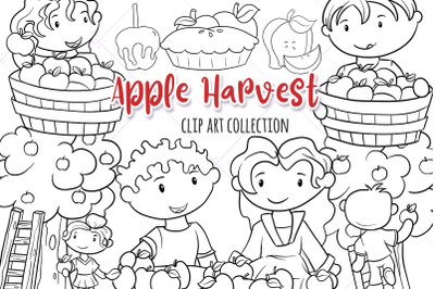Apple Harvest Digital Stamps