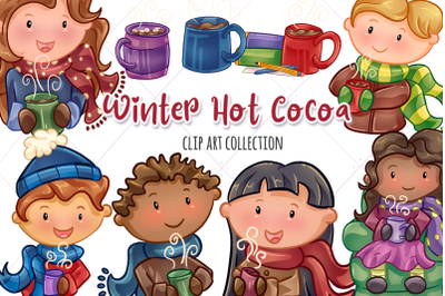 Winter Hot Cocoa Clip Art Collection