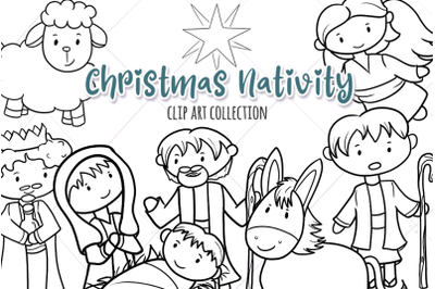Christmas Nativity Digital Stamps
