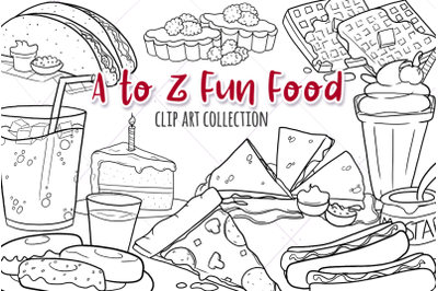 A to Z Fun Foods Digital Stamps