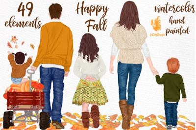 Fall clipart, Family clipart, Thanksgiving clipart