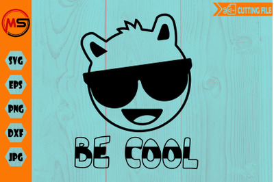 Be cool llama head, with sun glasses svg file for cricut, cutting file