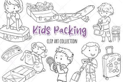 Kids Packing Digital Stamps