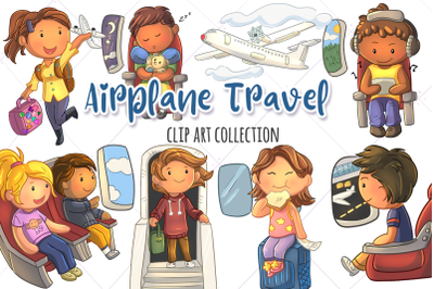 Airplane Travel Clip Art Collection