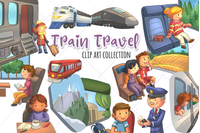 Train Travel Clip Art Collection