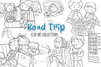 Road Trip Digital Stamps