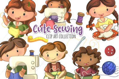 Cute Sewing Clip Art Collection