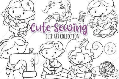 Cute Sewing Digital Stamps