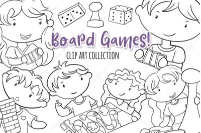 Board Games Digital Stamps