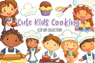 Cute Kids Cooking Clip Art Collection
