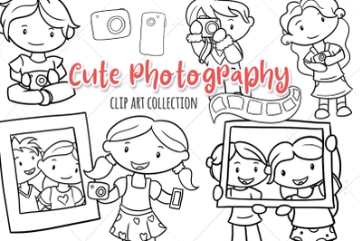 Cute Photography Digital Stamps