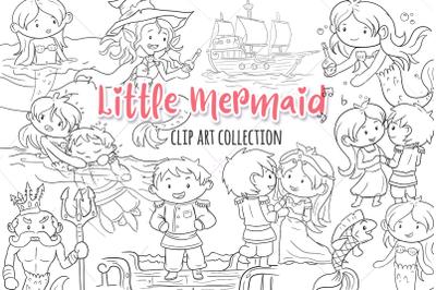 Little Mermaid Digital Stamps
