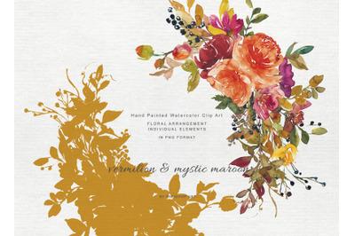 Autumn Colors Flowers Clipart