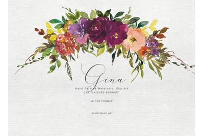 Watercolor Autumnal Bouquet Clipart