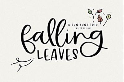 Falling Leaves - Script & Print Font Trio